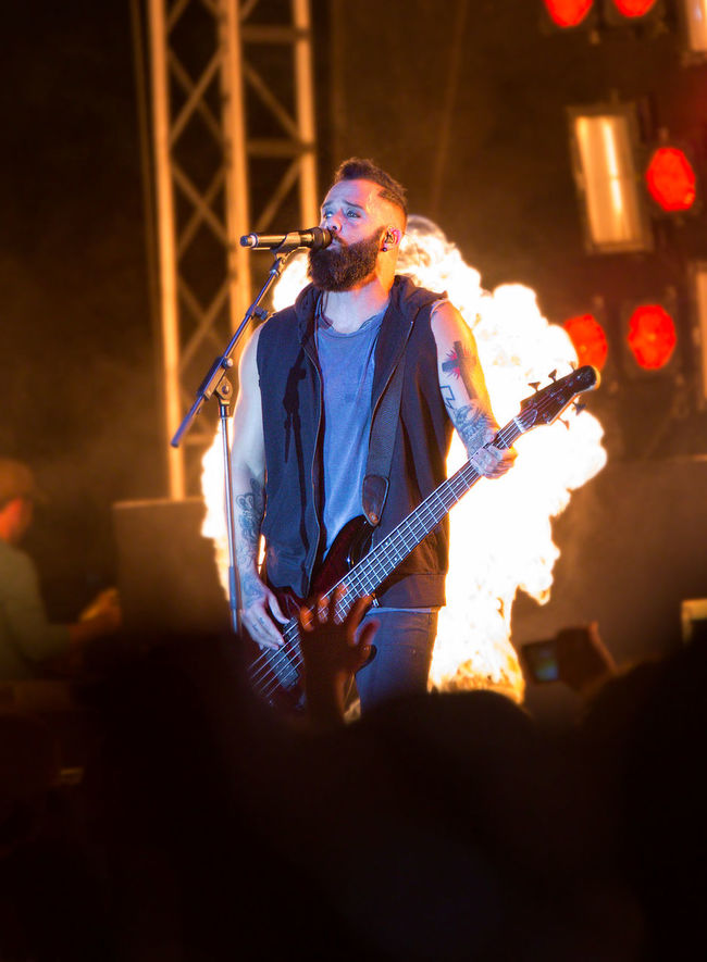 Concert Concert Photography Uprise Uprise Festival Low Key Rock N Roll Skillet Music Skillet Band Christian Music Flames Fire Pyrotechnics Stage Performance Performer  Festival Festival Music Singer