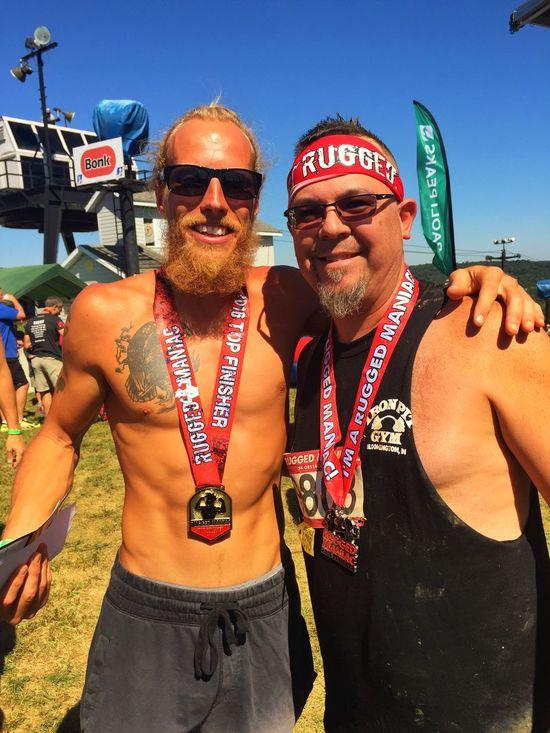 Rugged Maniac Sept 2016 with American Ninja Warrior Pj Granger Ruggedmaniac Obstaclecourseracing Ironpitgym Paoli,Indiana