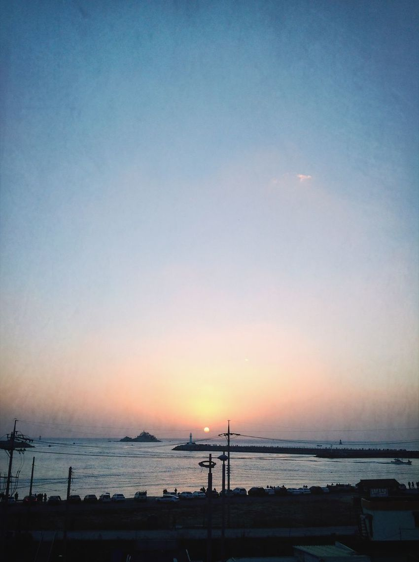 Have a good day Sunrise Sky Sea