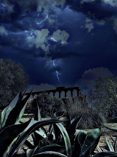 Templi by night with Temples Valle Dei Templi Agrigento Edit Night Storm Night Lights