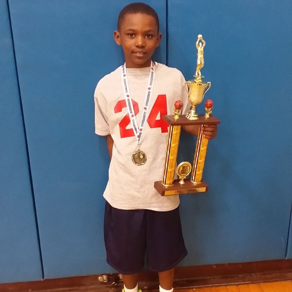 Amare's First BasketballTournament . You Played with so much Heart vs kids 3-4yrs Older than you! SkysTheLimit ProudPapa