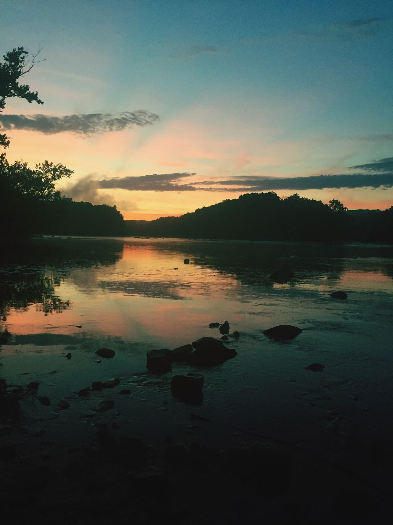 Sunset Water Reflection Nature Scenics Tranquil Scene Tranquility Beauty In Nature Outdoors