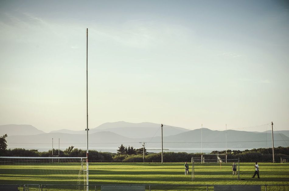 Beautiful stock photos of football, Atmosphere, Blue, Clear Sky, Connection
