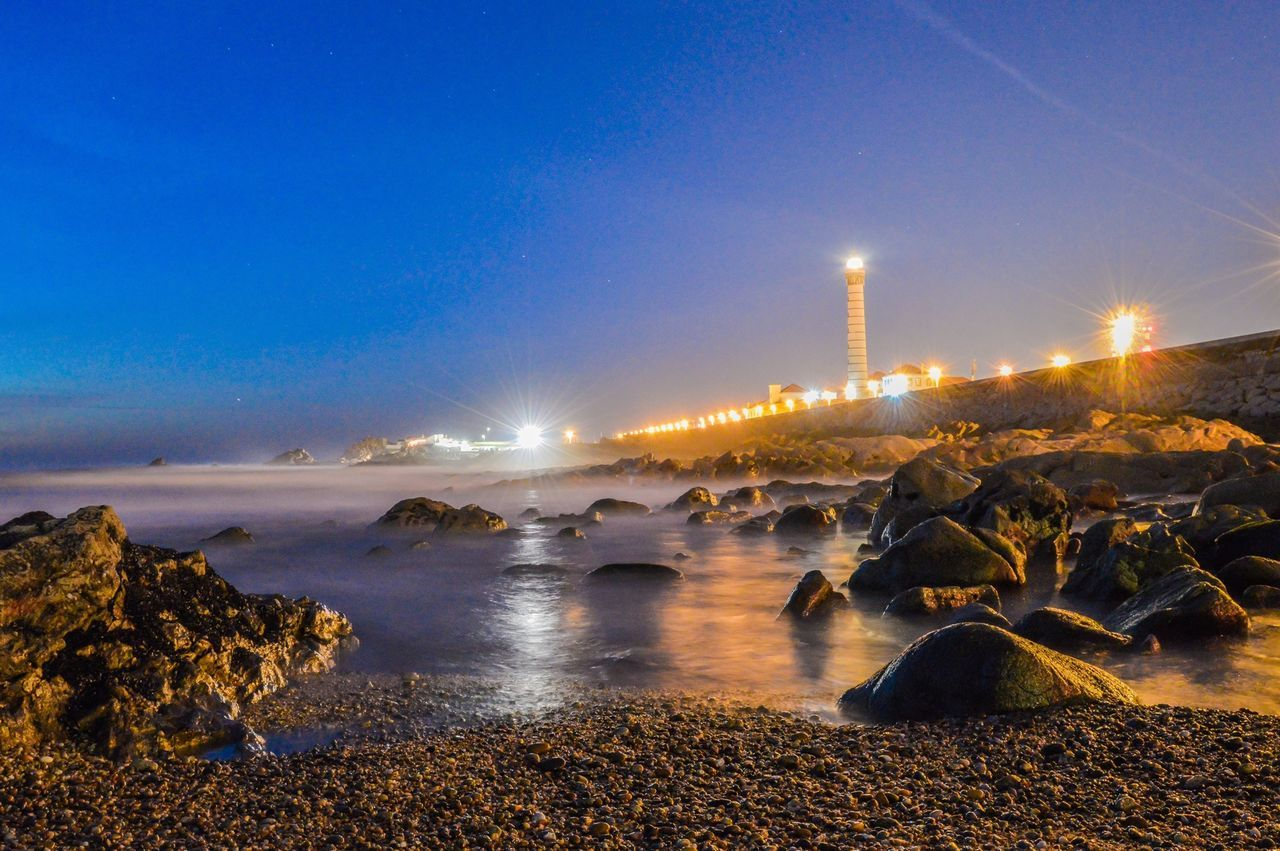 Seascape, Leça da Palmeira Seascape Taking Photos Enjoying Life Night Hanging Out Summer Nikon Portugal Traveling Water Landscape Longexposure Rocks Beautiful Ocean