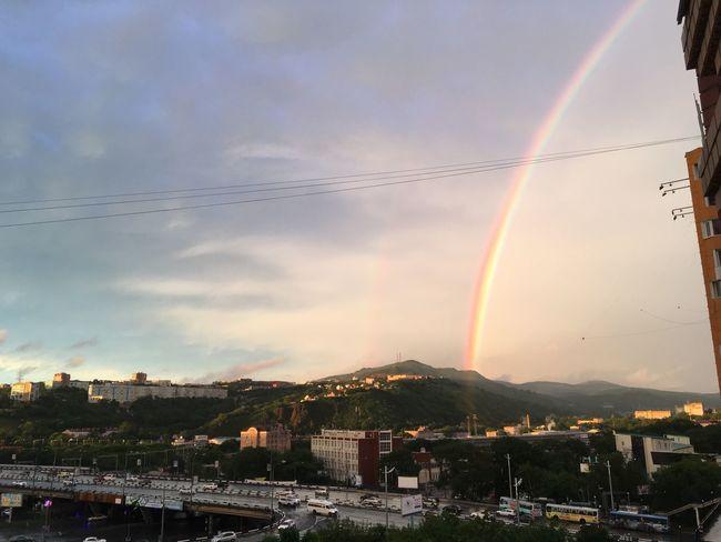Rainbow Sky Urbanphotography Vladivostok Evening Light
