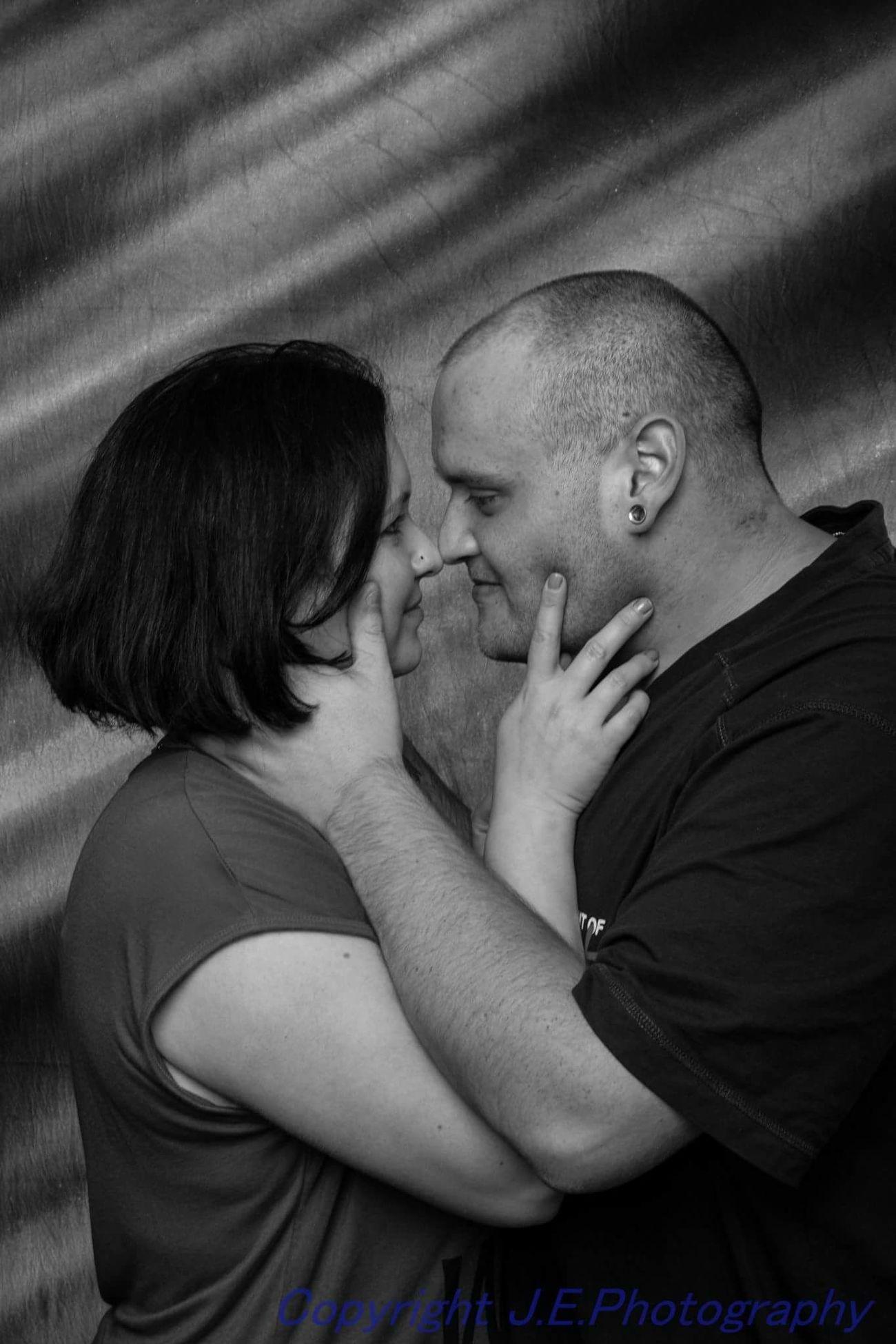Two People Love Indoors  Real People People Portrait Studio Shoot