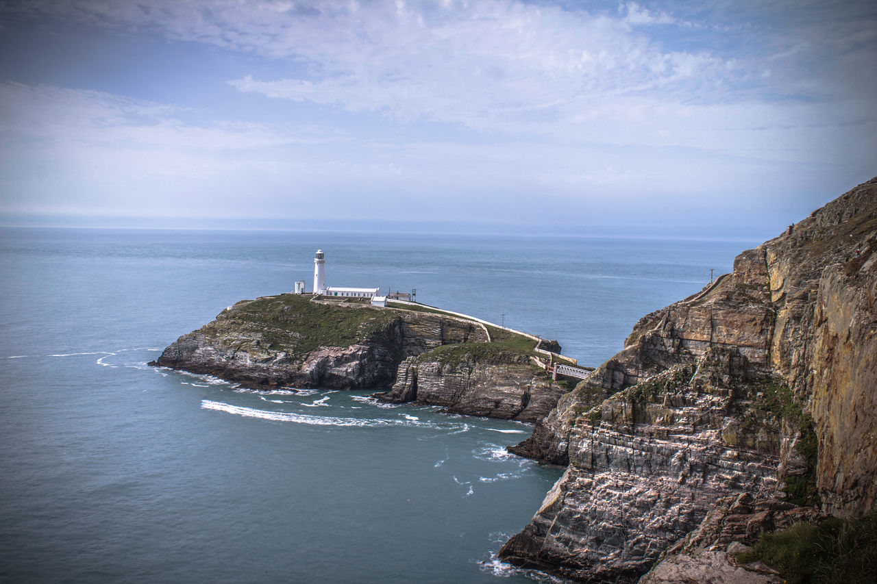 South Stack Lighthouse Angelsey Canonphotography Cliff Lighthouse No People Pauldroberts Rock - Object Sea Sky Southstacklighthouse Tranquility Wales Water The Great Outdoors - 2017 EyeEm Awards