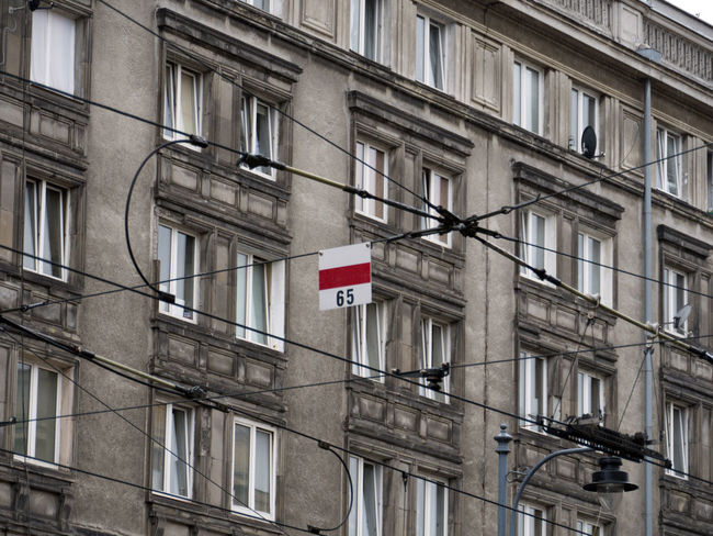 Architectural Detail Architecture Architecture Architecture_collection Building Building Exterior City City City Life Electric Wire Electricity  Electricity Pylon Exterior Façade Hello World Historic Perspective Poland Sign Tram Tramway Transport Urban Wires