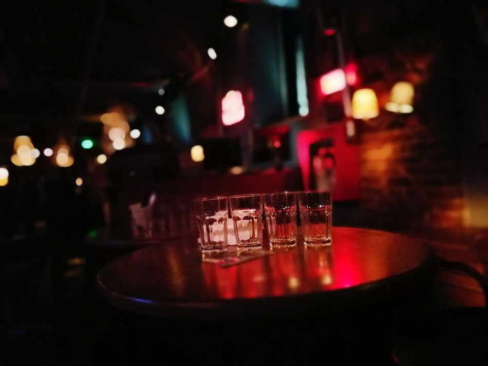 Party Drink Glass Bar - Drink Establishment Red Color Lens Flare Bar Counter Start The Party All Night Friends Ready For The Weekend! Goodtimes✌ Sibiu, Romania