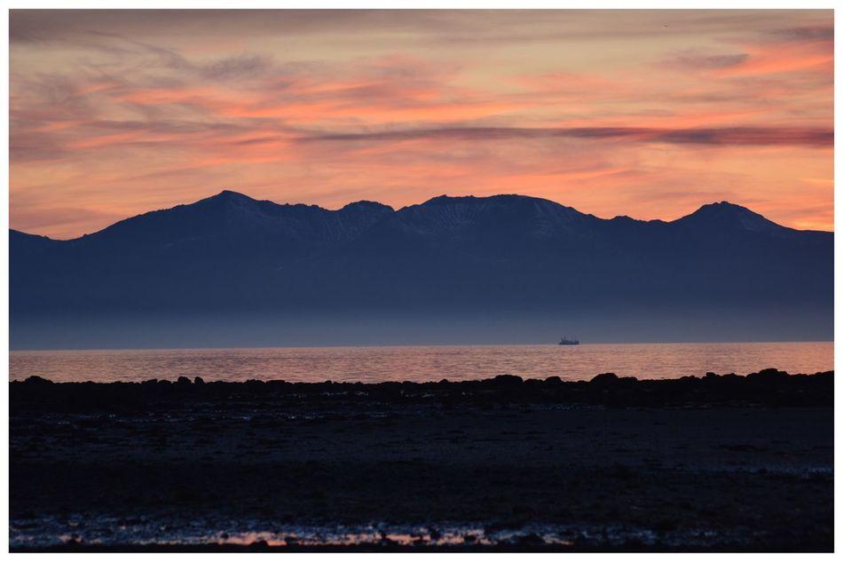 Isle Of Arran  Mountain Sunset Scenics Tranquil Scene Beauty In Nature Mountain Range Sky Tranquility Nature Silhouette Outdoors Landscape Cloud - Sky Idyllic No People Water Day Eye4photography  EyeEm Best Shots EyeEmBestPics EyeEm Gallery EyeEm Mountains Ayrshire, Scotland