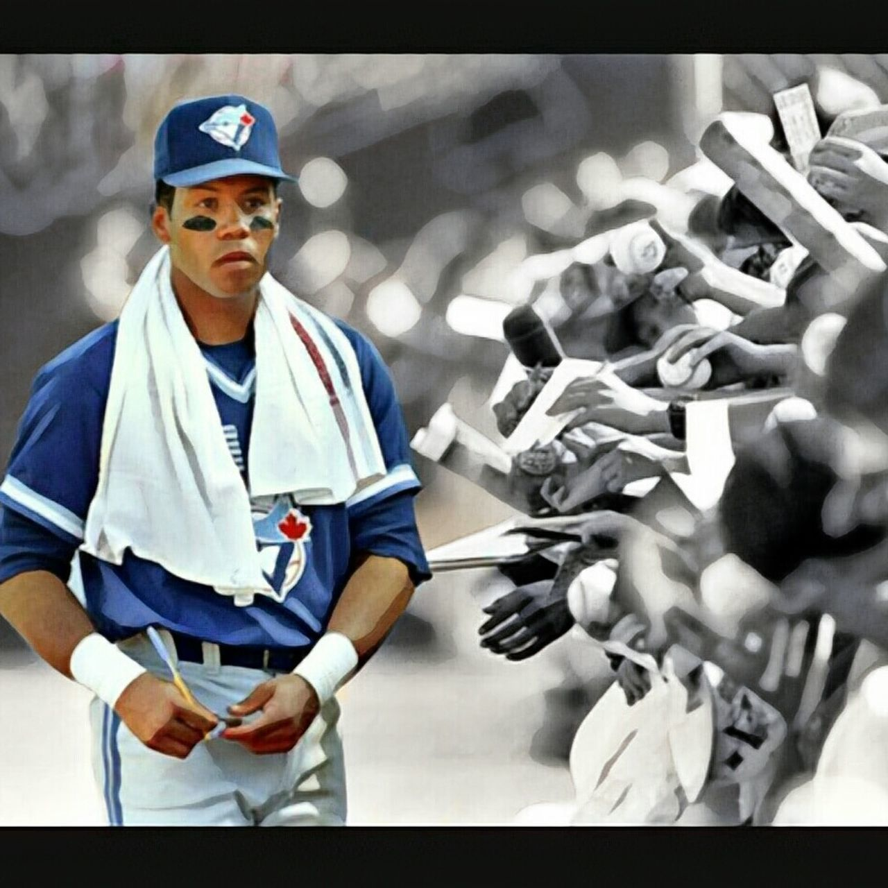 The good ol days of baseball. Roberto Alomar Robbie Alomar Toronto Blue Jays Toronto Blue Jays 6 Spot Light  Second Base 12 Hall Of Famer '92-'93 Champions Signing Autographs Fans Idol Baseball ⚾ Baseball Player Fan Favourite