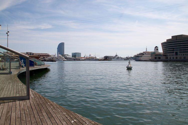 Barcelona City City Harbor Marina Modern Nature No People Outdoors Port Port De Barcelona  Sea Seaside Skyscraper Tower Travel Destinations Urban Skyline Water