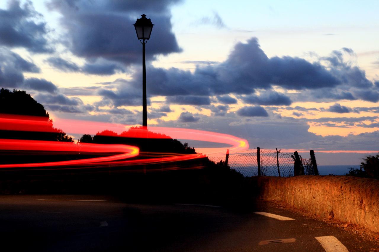 Cloud - Sky Corse Horizon Over Water Lights Red Sky Street Street Light Summer Sunset Traffic Lights