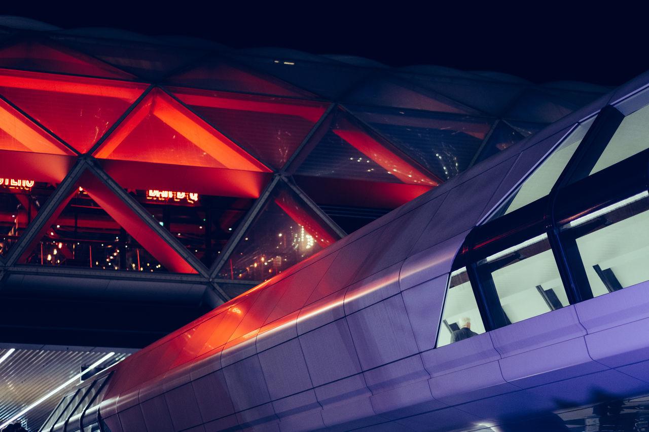Canary Wharf City Futuristic Futuristic Futuristic Architecture Lights London Modern Neon Night Science Space Tunnel