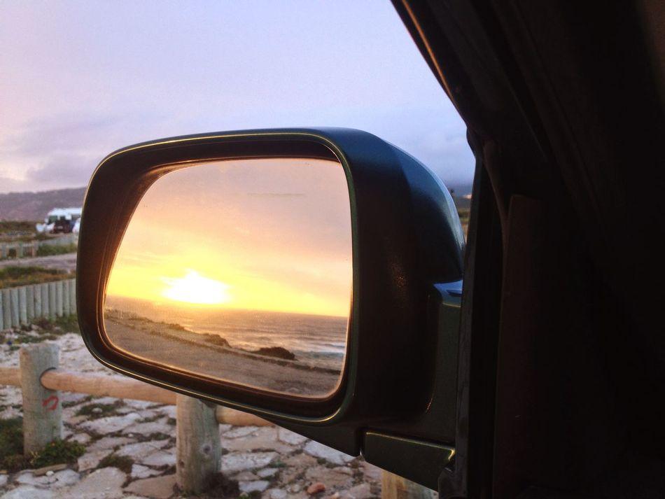 EyeEm EyeEm Gallery Orange Color EyeEm Best Shots Sun Review Mirror Sunset Lovers Sunset And Clouds