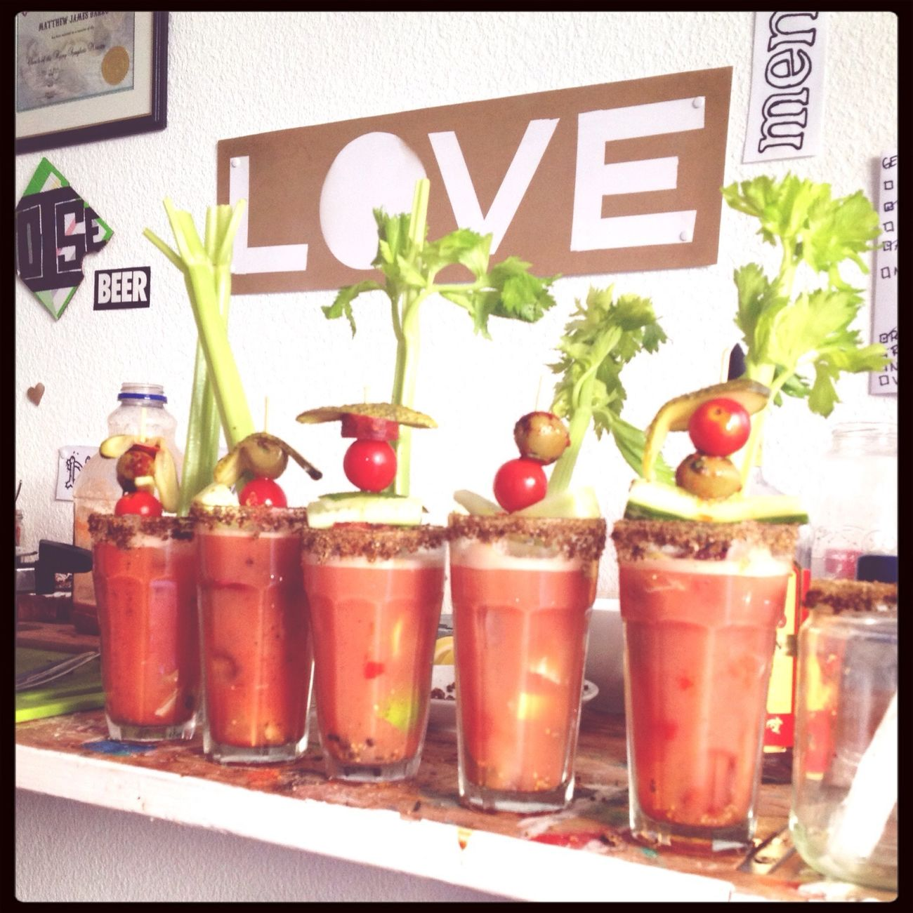 Is there anything better than Caesar Sunday? Canadiana Clamato♡ Drinks First Eyeem Photo