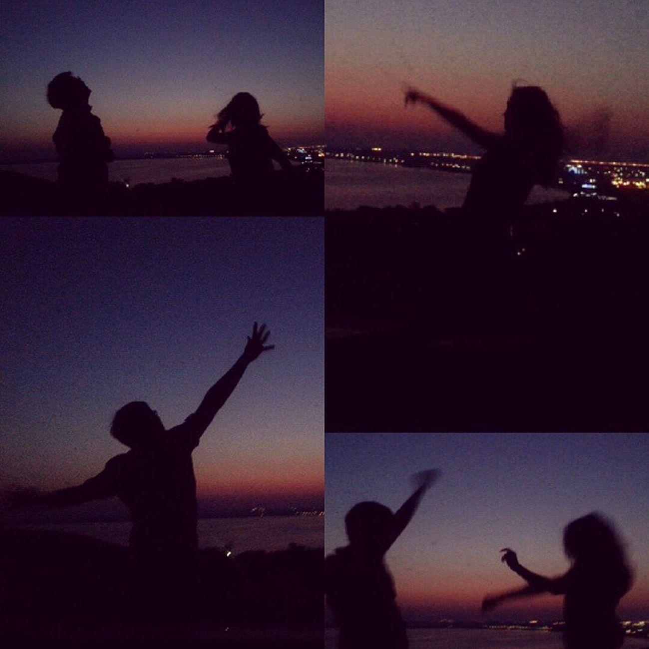 Просто музыка, хорошее настроение и лучшие друзья рядом. встречаярассвет танцы Лето2015 лучшие друзья Bestfriends Summer Dancing Sunrise 04am