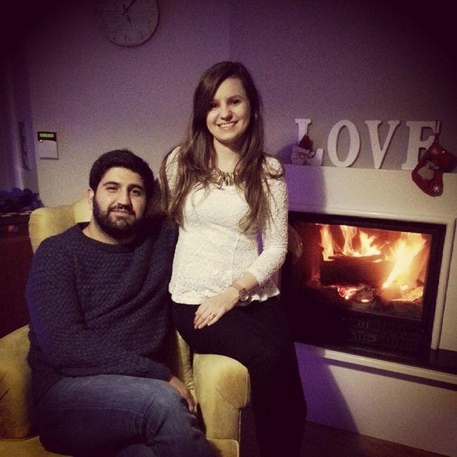 Kocacımla kutladıgımz ucuncu yılbasımız bu ? Yeniyılheyecanı Yılbaşıkafası Couple Happy newyear amour love
