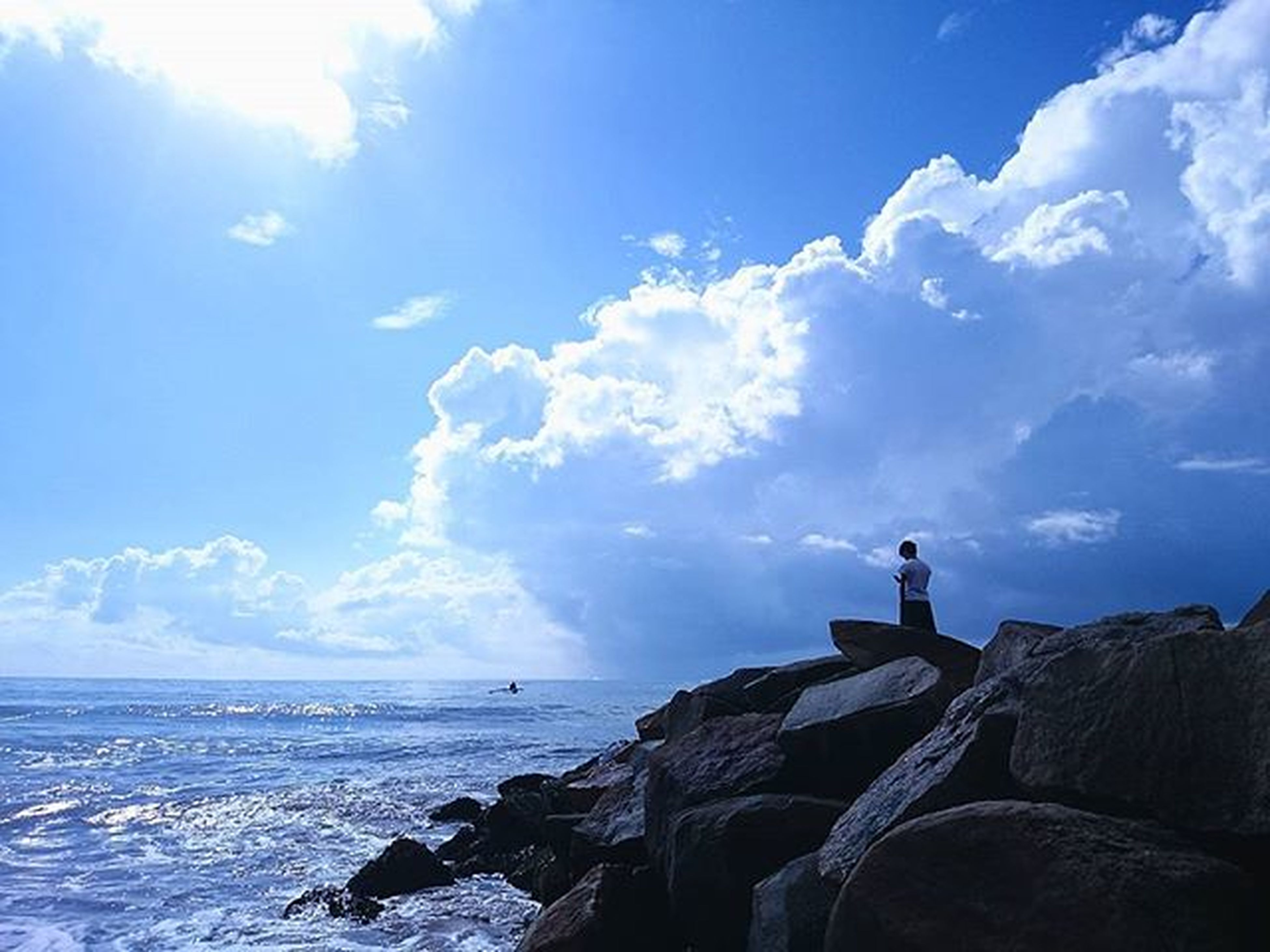 Photographer 你好攝影師 Tangele Stone Beach Blue Shine Sea Ocean Indianocean Sky Blue Cloud Trip Journey Wave