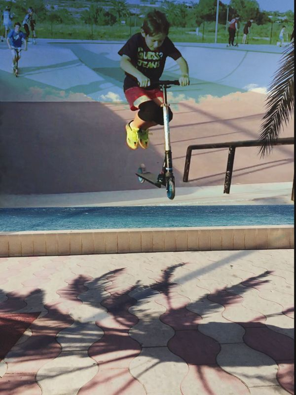 Cut And Paste Sport Skill  Real People Motion Leisure Activity Day Skateboard Full Length Skateboard Park Mid-air Outdoors Shadow Sports Ramp Men Lifestyles Jumping Sports Clothing One Person Stunt Beach Doble Exposure