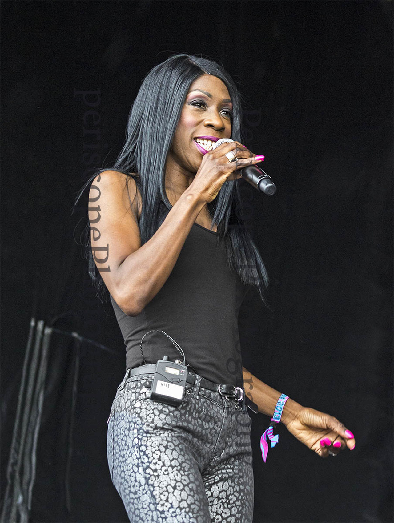 Heathe Small of M People fame performs at a free concert in south Shields, UK. Artist Blackandwhite Concert Female Gig Heather Small M People Performance Performer  Singer  Three Quarter Length