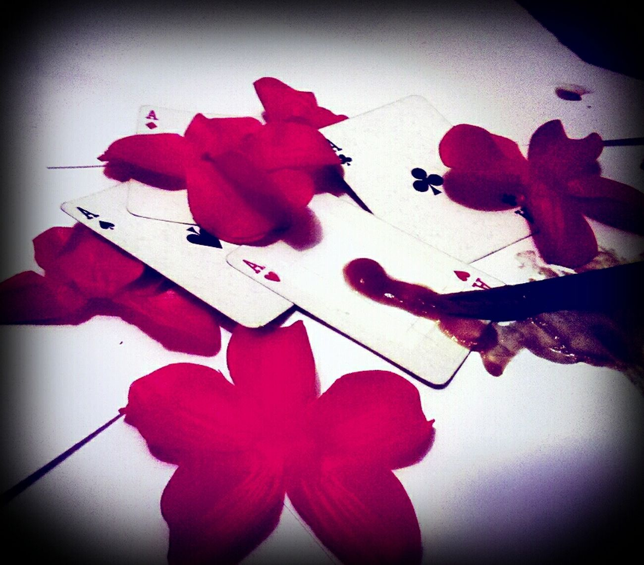 """""""An ace of hearts bleeding giving drink hell that i created..."""" Poetry My Pic My Poem Staging Heartbroken"""