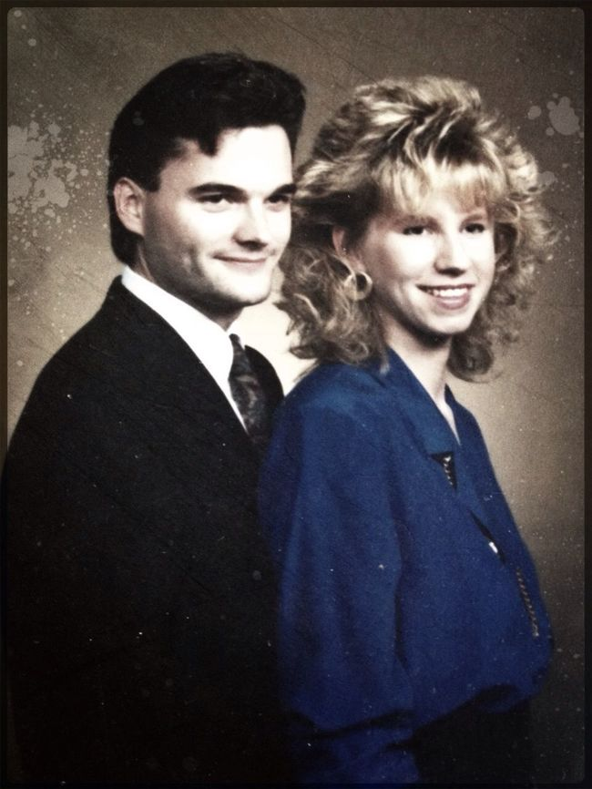 The Vampire and His Bride. Circa 1985. Happy Valentines.