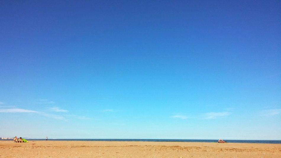 Beach Infinite Beach Sand Sky Blue Sky Summer