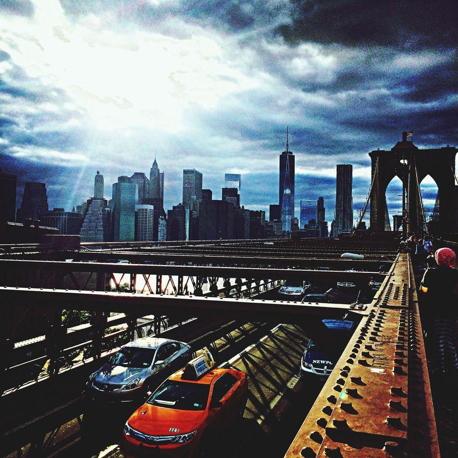 Hello World New York City Lights NYC CAB