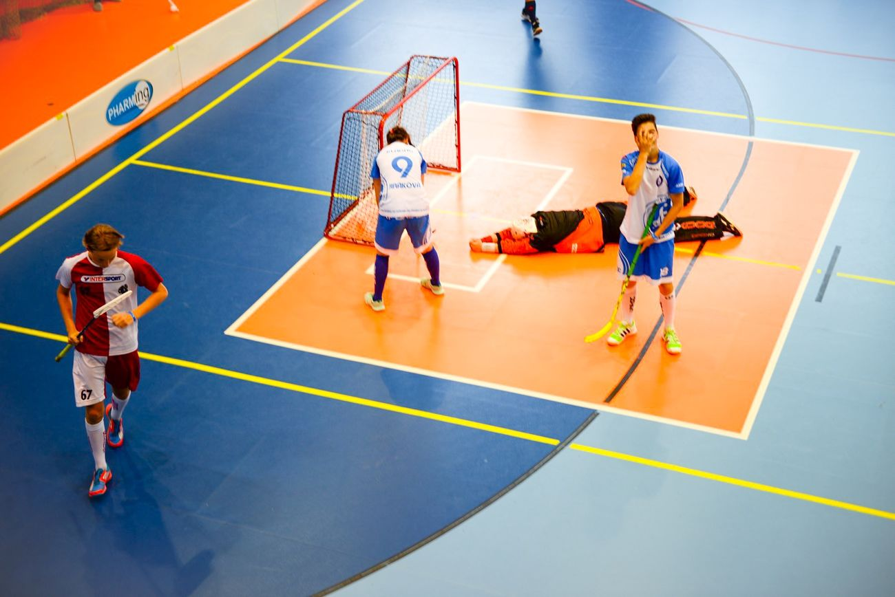 Floorball match Huddinge IBS defeat FBC Kladno with 8-2 Capture The Moment Floorball Sport