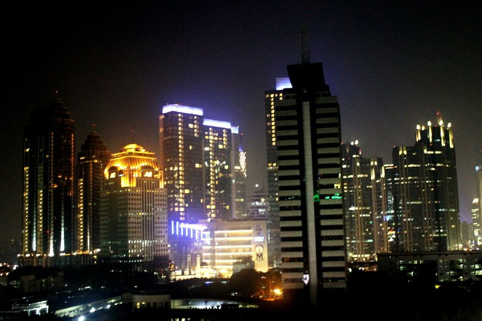 Photography Cityscape City Lights Nightphotography Beautiful View INDONESIA Jakartacity  Jakarta's night view. i took this photo from balai sarbini. First Eyeem Photo
