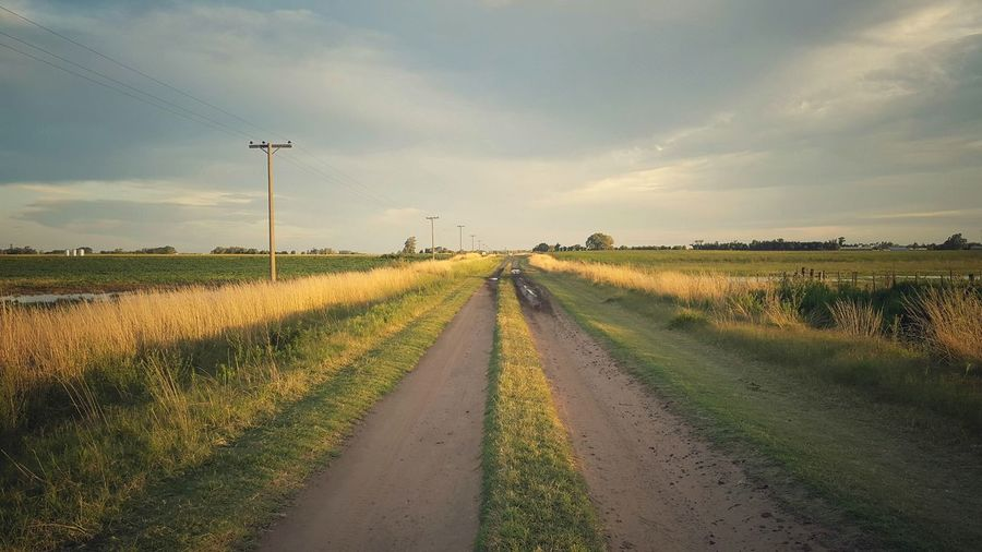 Walking On Sunshine Rural Scene Beauty In Nature Cloud - Sky Sunset Landscape Nature Getty+EyeEm Collection Eyemphotography Walking The Distance An Eye For Travel