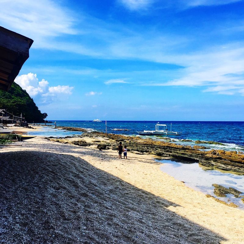 Sea Beach Water Sky Nature Scenics Beauty In Nature Outdoors Cloud - Sky Apo Island Dumaguete Tranquil Scene Philippines