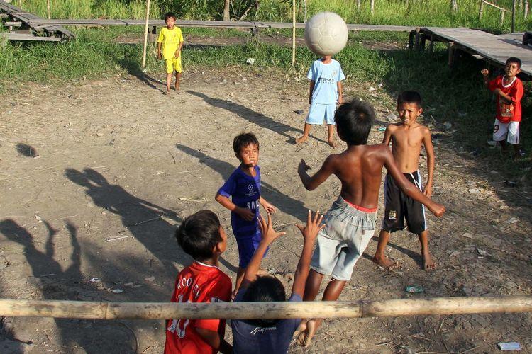 Soccer time. Soccer Playing Football Boys