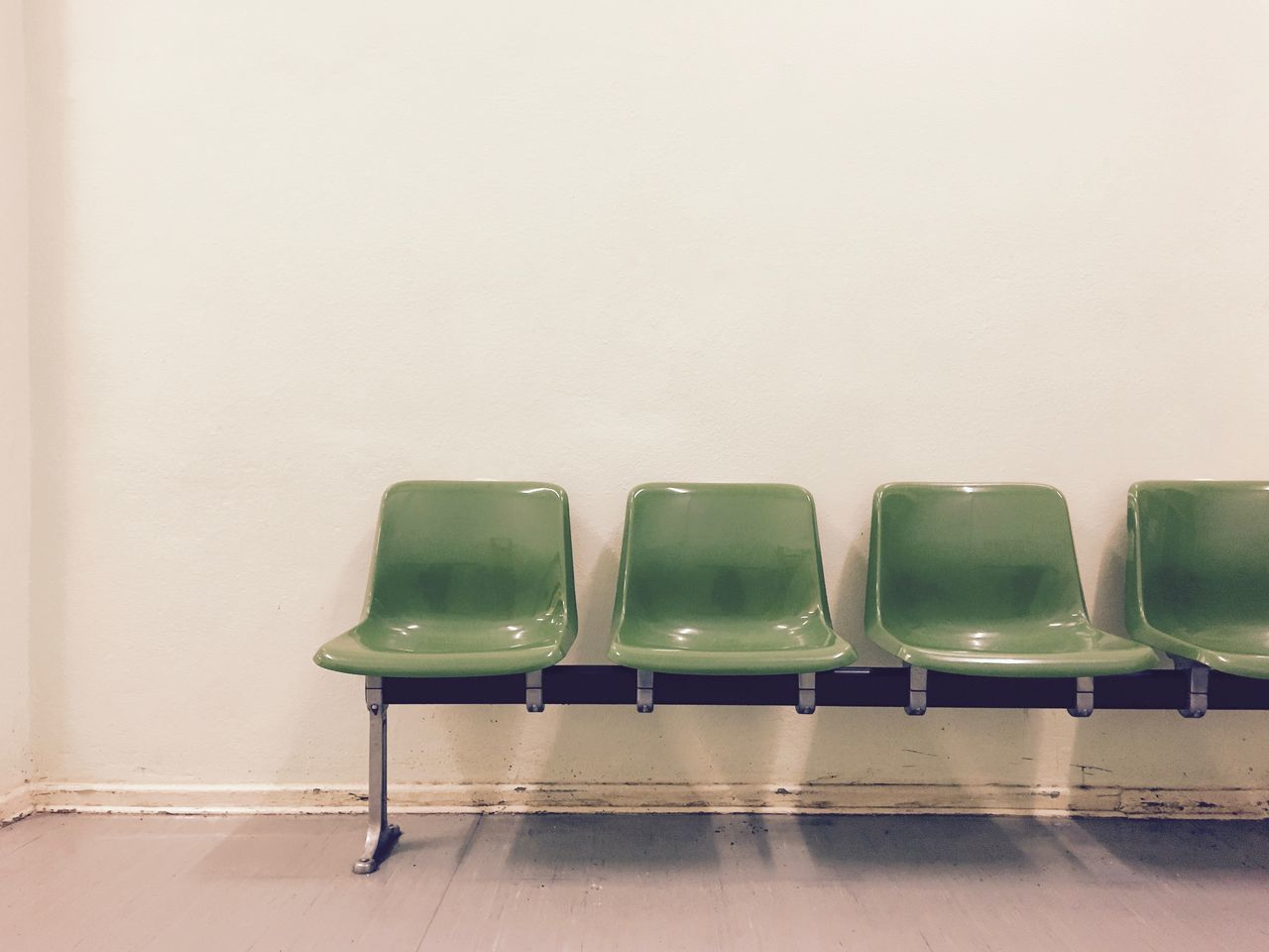 Copy Space Empty Places Empty Seats Green Green Green Green!  Have A Seat In A Row Indoors  No People Rows Of Things Seats Simplicity Waiting In Line Waiting Room