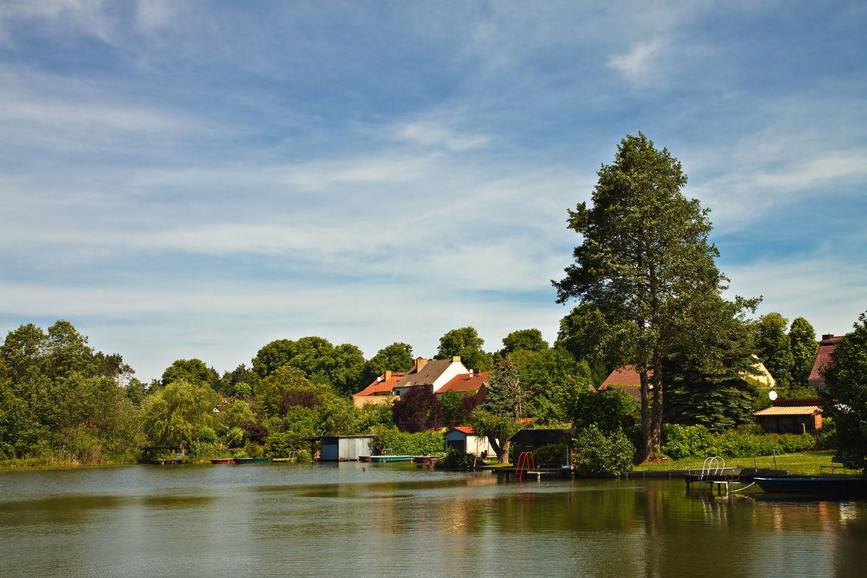 View to Feldberg, Germany. Architecture Beauty In Nature Buildingstyles City Day Feldberg Lake Nature No People Outdoors Reflection Sky Town Tree Water Waterfront