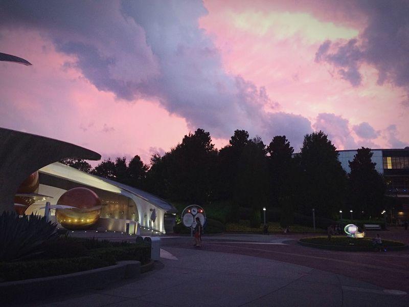 DisneyWorld Taking Photos Enjoying Life Traveling Sky Sunset Clouds Florida Orlando