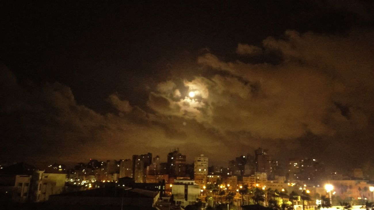 Full Moon 🌕 AlexandriaNight Alexandria Egypt Illuminated City Sky Outdoors Cityscape No People Nature Beauty In Nature Thunderstorm Architecture First Eyeem Photo