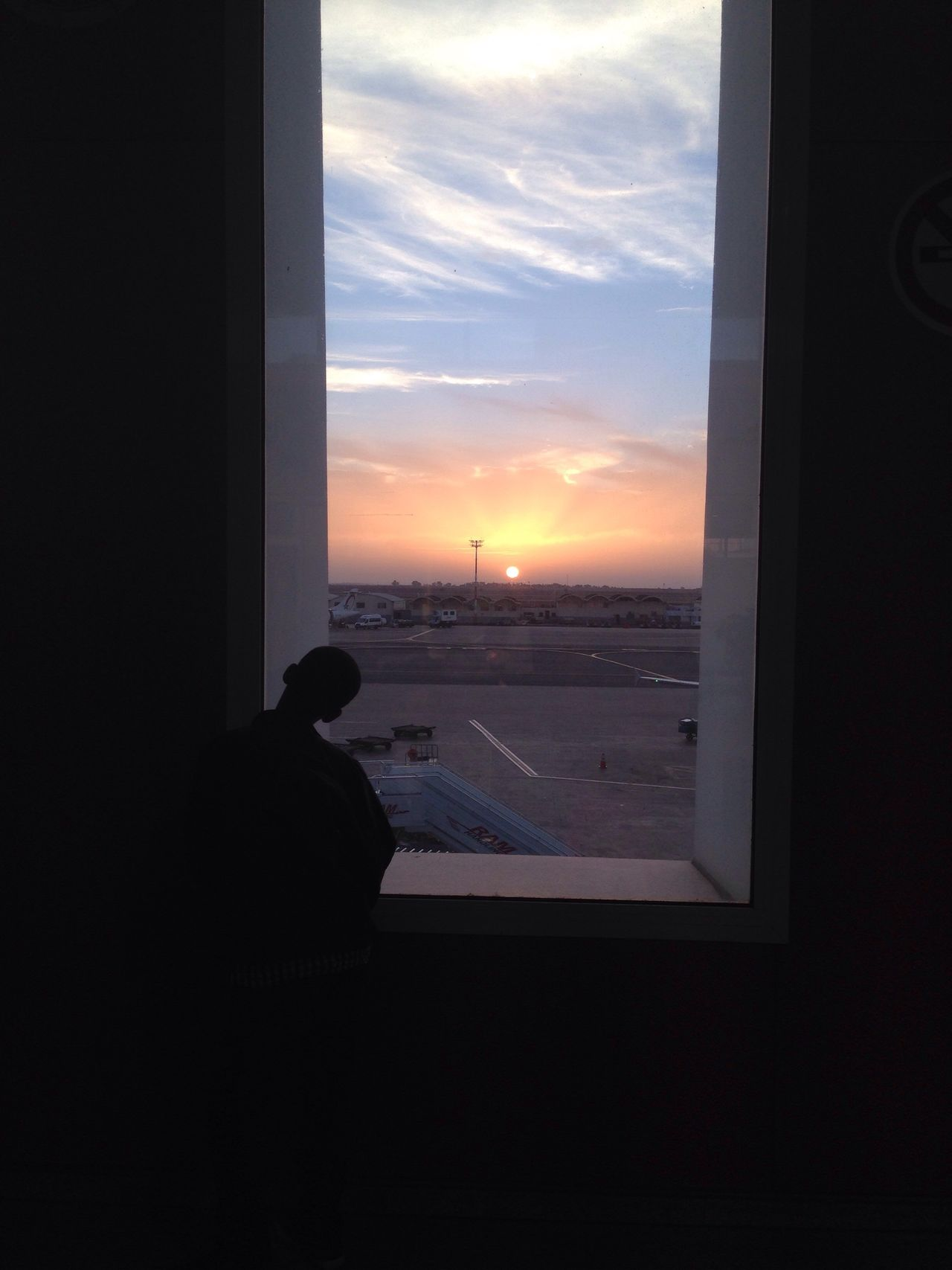 Looking Through Window Sunset Sky Rear View Indoors  Freedom Lifestyles Aeroport ✈ Aeroportmohamedv