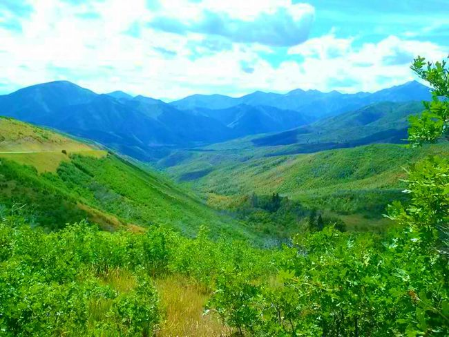 Deer Creek Overlook American Fork Canyon Mountain Range Mountains And Sky Scenic View Scenic Drive