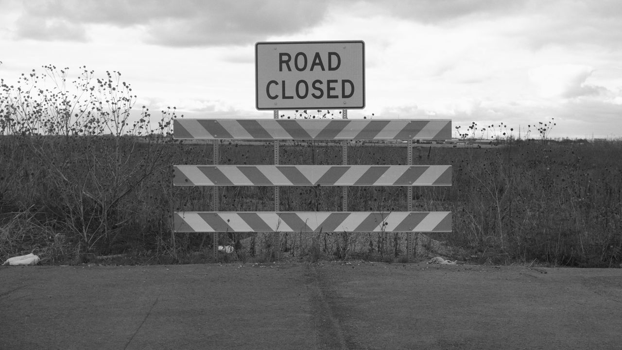 South Fargo, North Dakota / Summer 2016 Communication Day Fargo Guidance MidWest Monochrome No People North Dakota Outdoors Road Road Sign Sky South Fargo Text