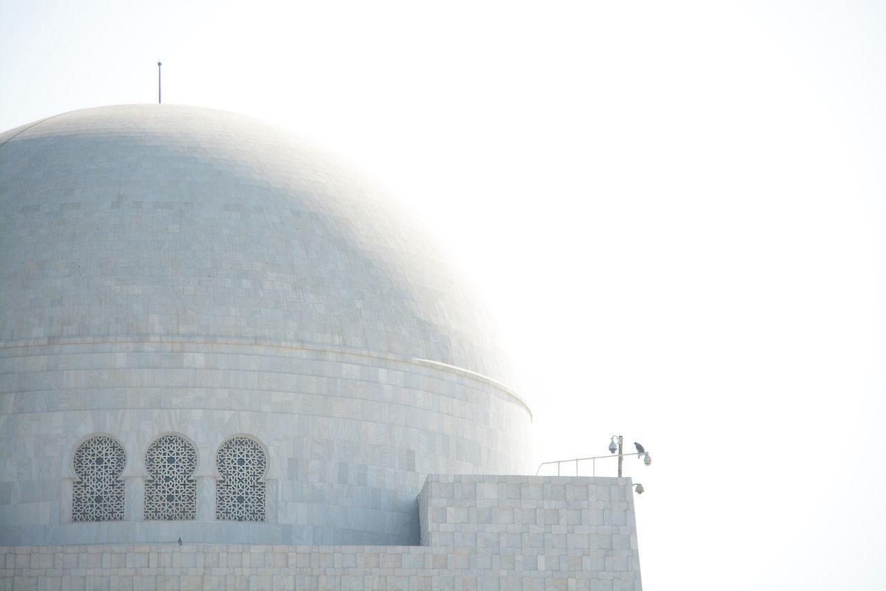Architecture Architecture Architecture_collection Arts Culture And Entertainment Building Exterior Built Structure Clear Sky Day Dome Karachi Mosoleum No People Outdoors Pakistan Pakistani Traveller Sky Storage Tank Wihte Miles Away