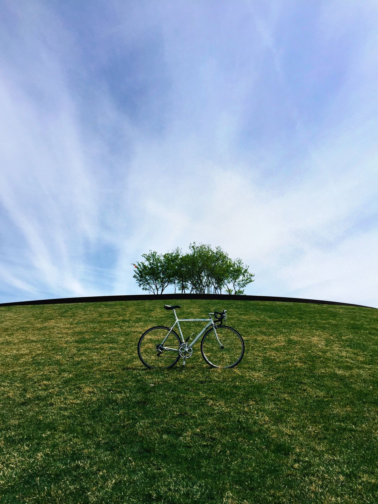 Beautiful stock photos of bike, Absence, Beauty In Nature, Bicycle, Cloud - Sky