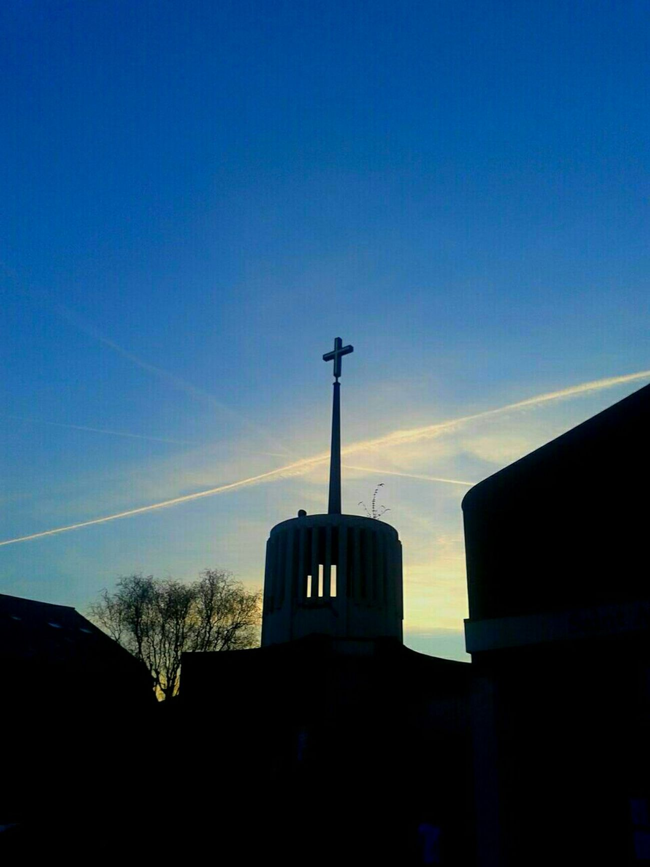 The cross of Saint Anselam's Church, London. London Beautiful Religion N Faith Religion Religious  HolySunday Evening Sky Cross Church Christianity First Eyeem Photo
