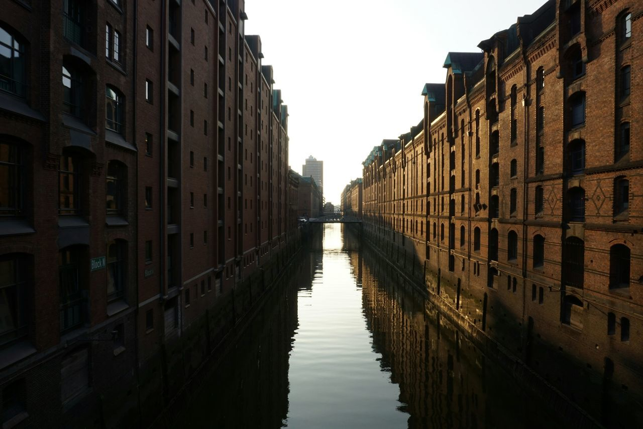 Beautiful stock photos of hamburg, Architecture, Building Exterior, Built Structure, Canal