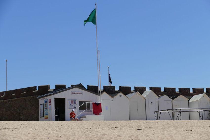 Sand Beach Lifeguard  Lifeguard Hut Lifeguard Station Clear Sky Beach Huts Beachphotography Beach Photography Beach Life Clear Sky