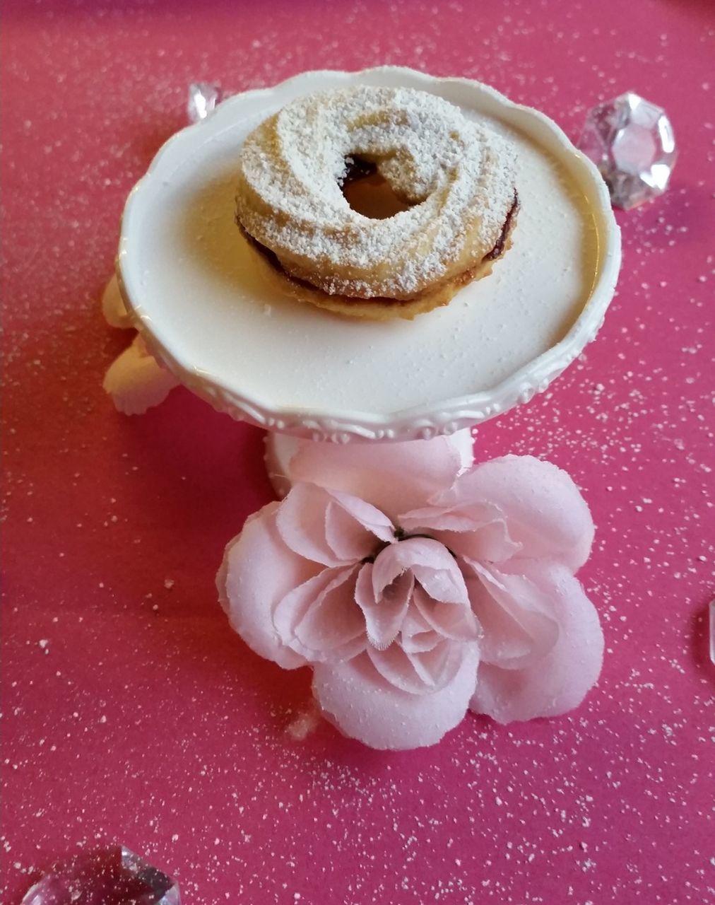Close-Up Of Dessert On Cake Stand