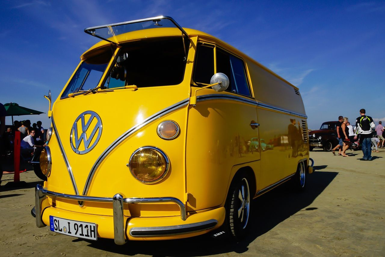 Rømø Motor Festival Danish Beach Racing VW Bulli Volkswagen Transportation Yellow Land Vehicle Dänemark Motor Vehicle Rømø Car Vintage Danmark Rømø Retro Styled Nordsee Danmark Denmark September 2016 On The Beach Rømøstrand Outdoors Northsea