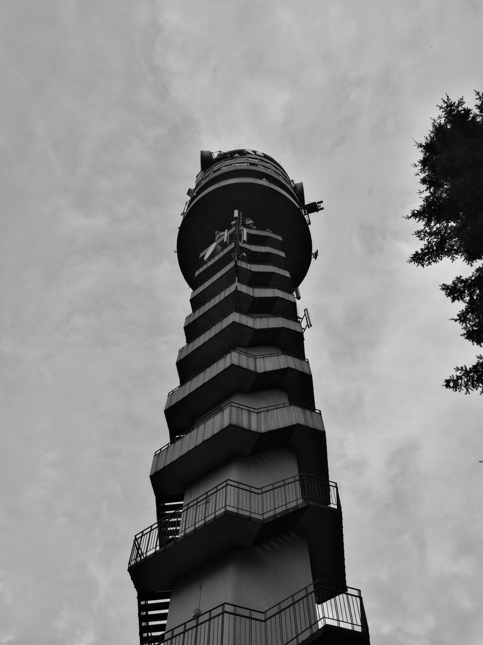 Tower Sky Cloud - Sky Low Angle View Architecture Outdoors No People TV Tower Blackandwhite Black & White