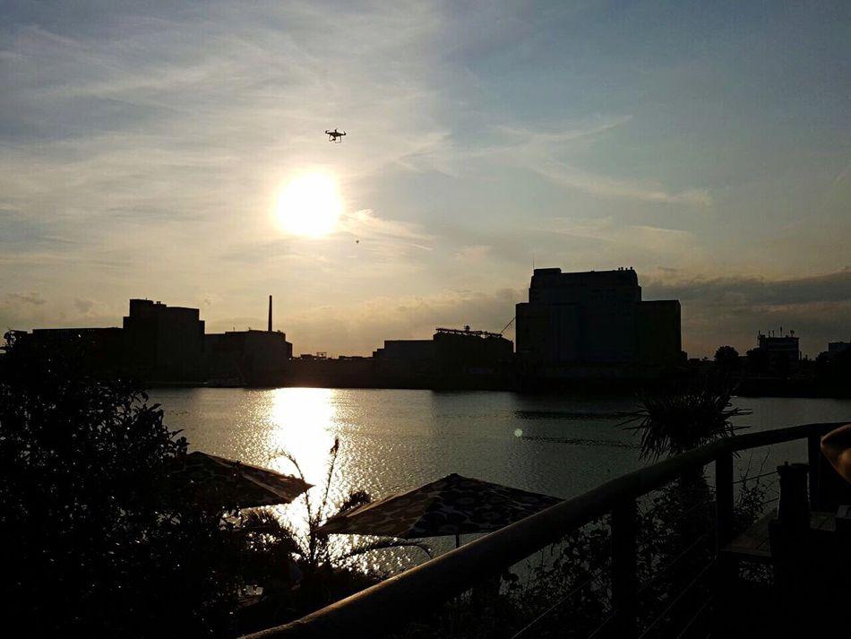 Mannheim Sunset Water Sky Drone  Art Is Everywhere